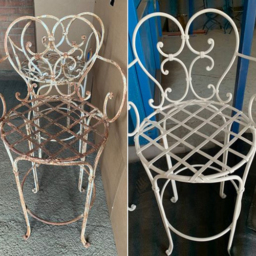 Garden Chairs restored by Worcester Powder Coating in Worcestershire